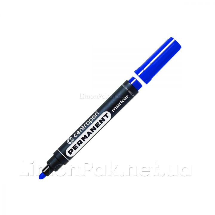 Маркер Сentropen Permanent 2.5мм, синій (8566/02)