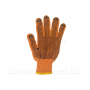 Рукавички х/б помаранчеві з чорної ПВХ крапкою